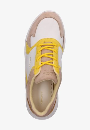 COCCOVILLE - Sneakers laag - br.wht./beige/yellow g294