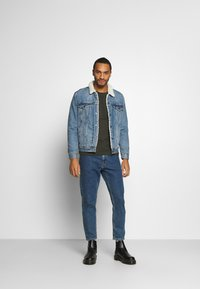 Burton Menswear London - LONG SLEEVE CREW 2 PACK  - Maglietta a manica lunga - charcoal - 0