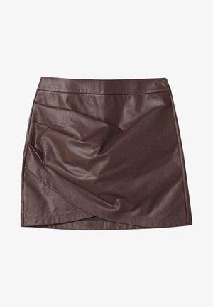 Jupe portefeuille - dark brown