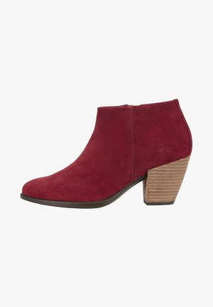 SHAPE WESTERN - Ankle boots - syrah