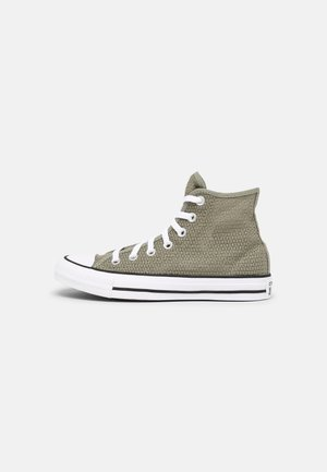 CHUCK TAYLOR ALL STAR CROCHET PLAY - High-top trainers - light field surplus/black/white