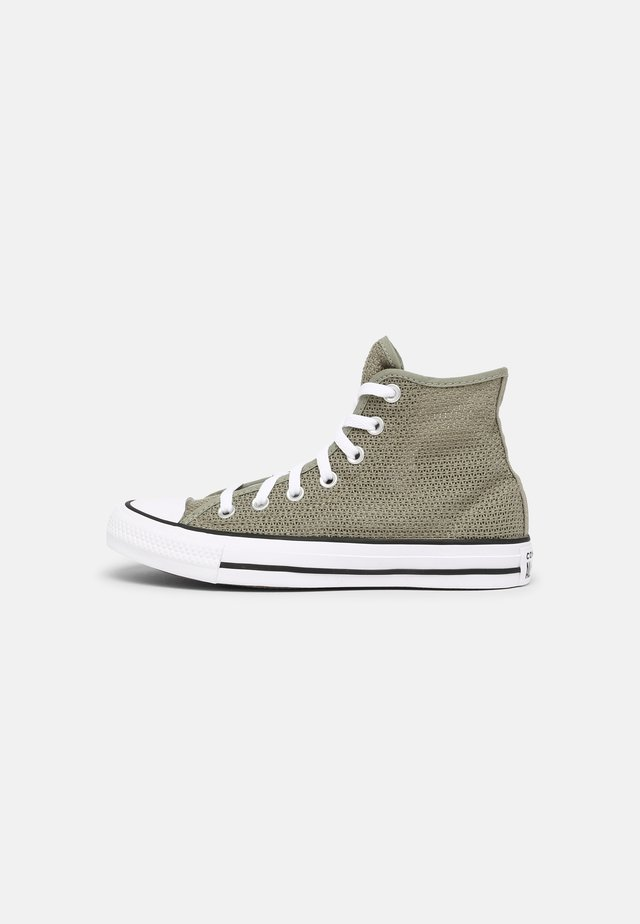 CHUCK TAYLOR ALL STAR CROCHET PLAY - Sneakers hoog - light field surplus/black/white
