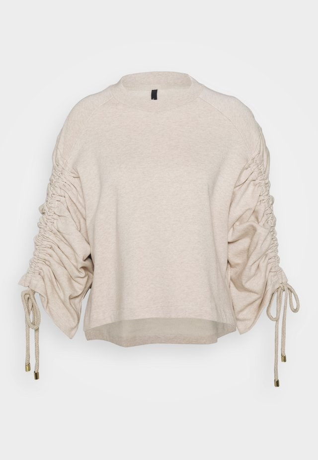 JUMPER WITH GATHERED SLEEVE - Collegepaita - oatmeal