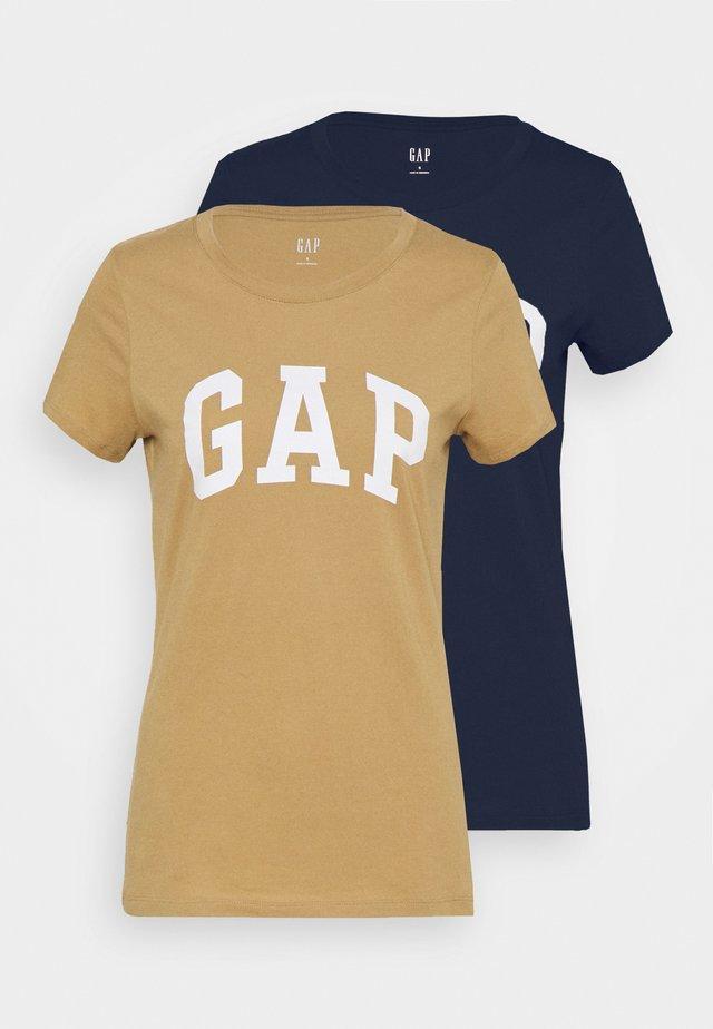 FRANCHISE TEE 2 PACK - T-shirt print - mojave