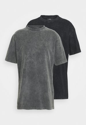 2 PACK - Basic T-shirt - grey/black