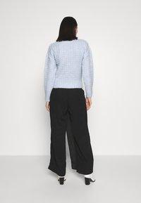 UNIQUE 21 - WRAP FRONT TROUSER - Trousers - black - 2