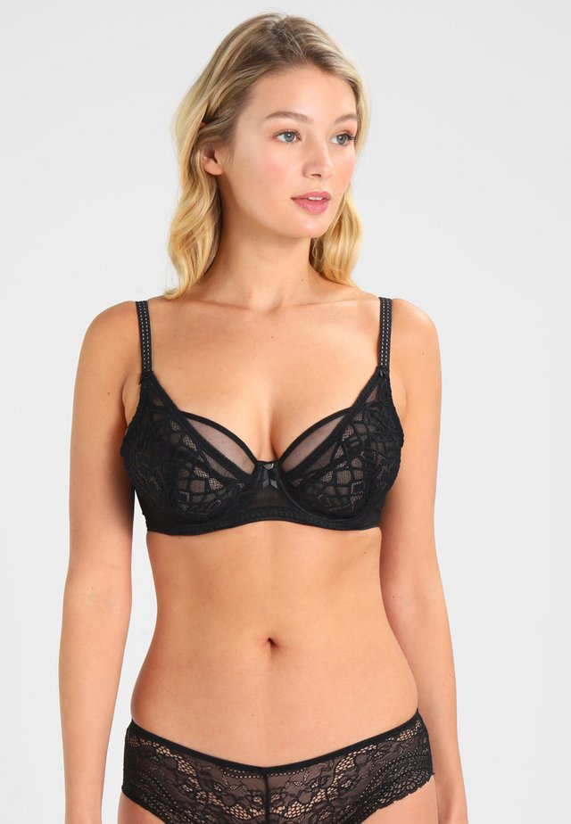 SOIREE HIGH APEX BRA - Beugel BH - black