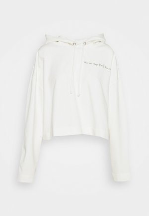 LONGSLEEVE HOODED CROPPED - Collegepaita - scandinavian white