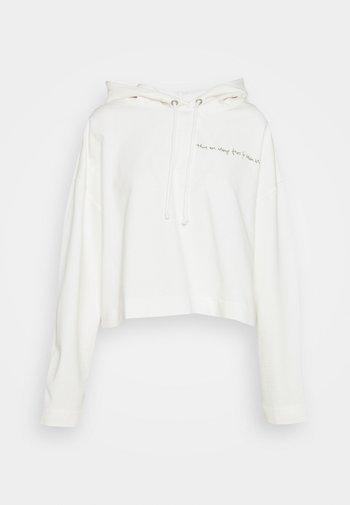 LONGSLEEVE HOODED CROPPED - Sweatshirt - scandinavian white