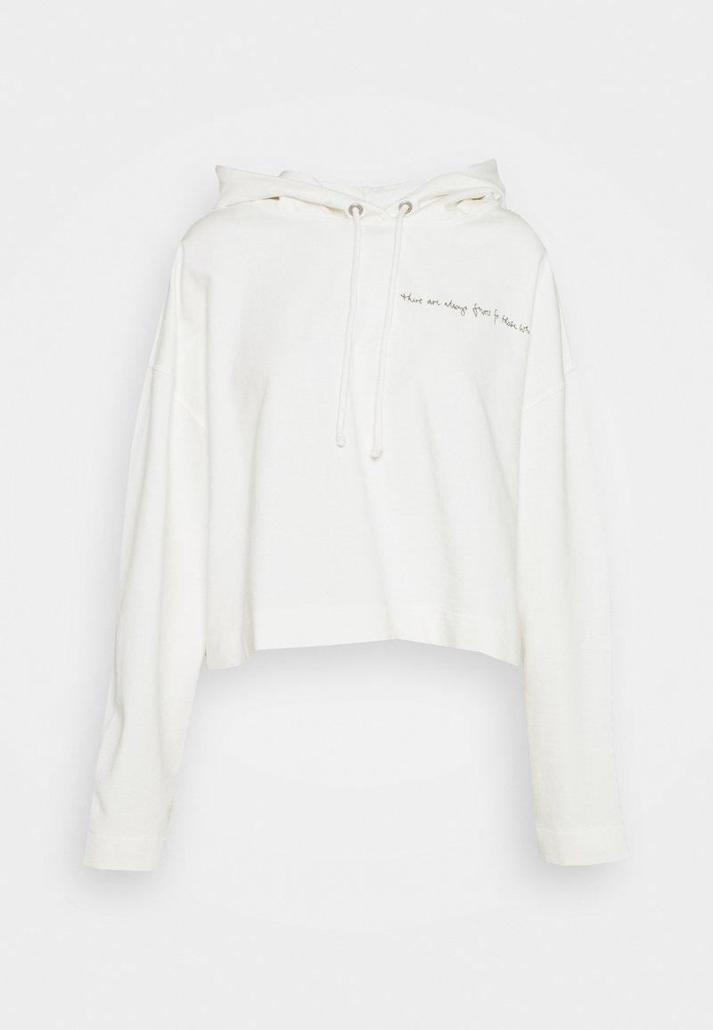 Marc O'Polo DENIM - LONGSLEEVE HOODED CROPPED - Sweatshirt - scandinavian white