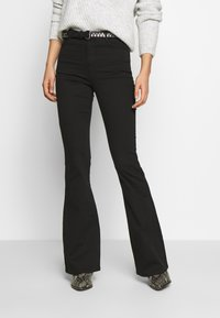 Missguided - LAWLESS FLARE - Flared Jeans - black - 0