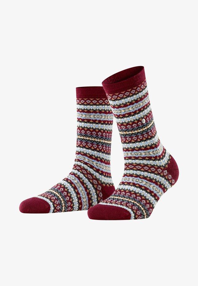 COUNTRY FAIR ISLE - Socks - merlot