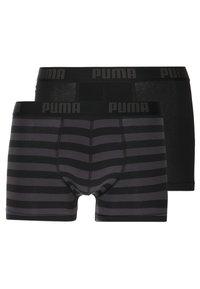 Puma - STRIPE BOXER 2 PACK - Panties - black - 1