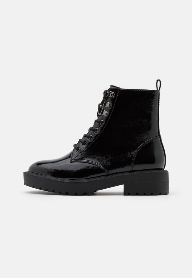 MAGIC LACE UP BOOT - Bottines à lacets - black