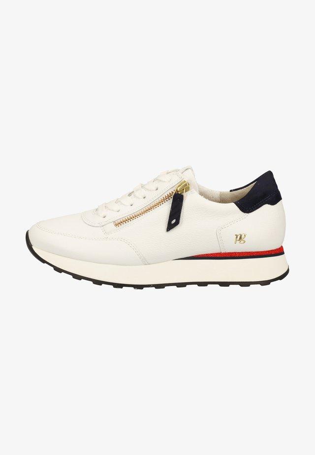 Sneakers laag - weiß/blau/rot 006