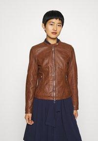 Freaky Nation - NEW TULA - Leather jacket - cognac - 0