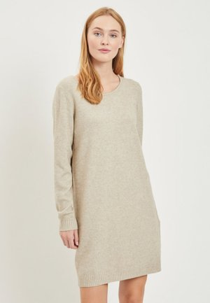 VIRIL DRESS - Gebreide jurk - natural melange