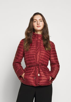 BELTED - Down jacket - maroon