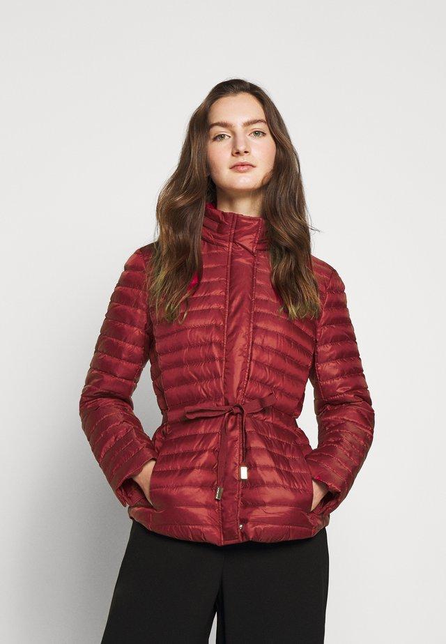BELTED - Down jacket - maroon