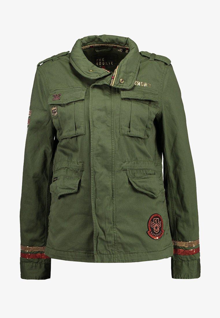 Superdry GLITTER ROCK ROOKIE Lett jakke khaki Zalando.no
