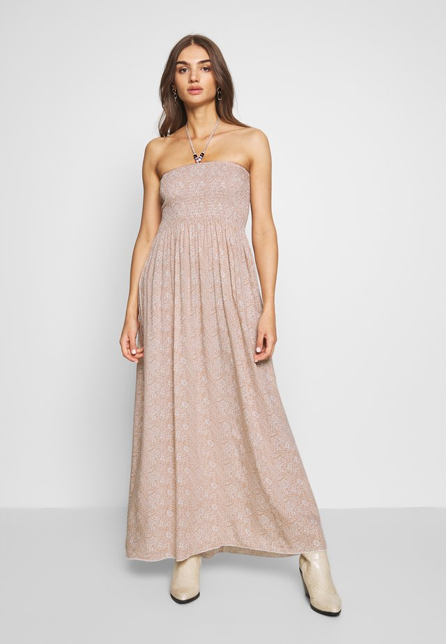 LADIES WOVEN DRESS - Maxi-jurk - petals beige