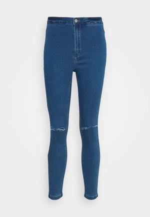 VICE HIGHWAISTED SLASH KNEE - Jeans Skinny Fit - blue