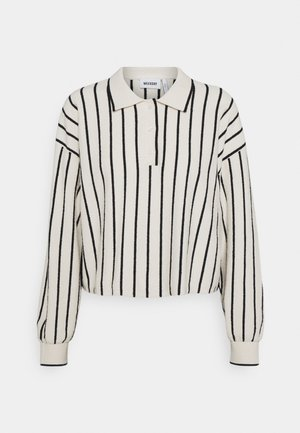 HELGA - Long sleeved top - white/ black stripe