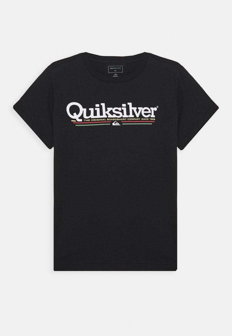 Quiksilver - SCREEN TEE - Print T-shirt - black
