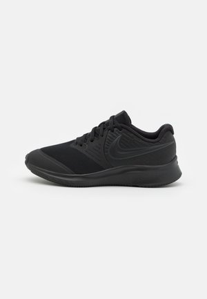 STAR RUNNER 2 UNISEX - Neutral running shoes - black/anthracite/volt