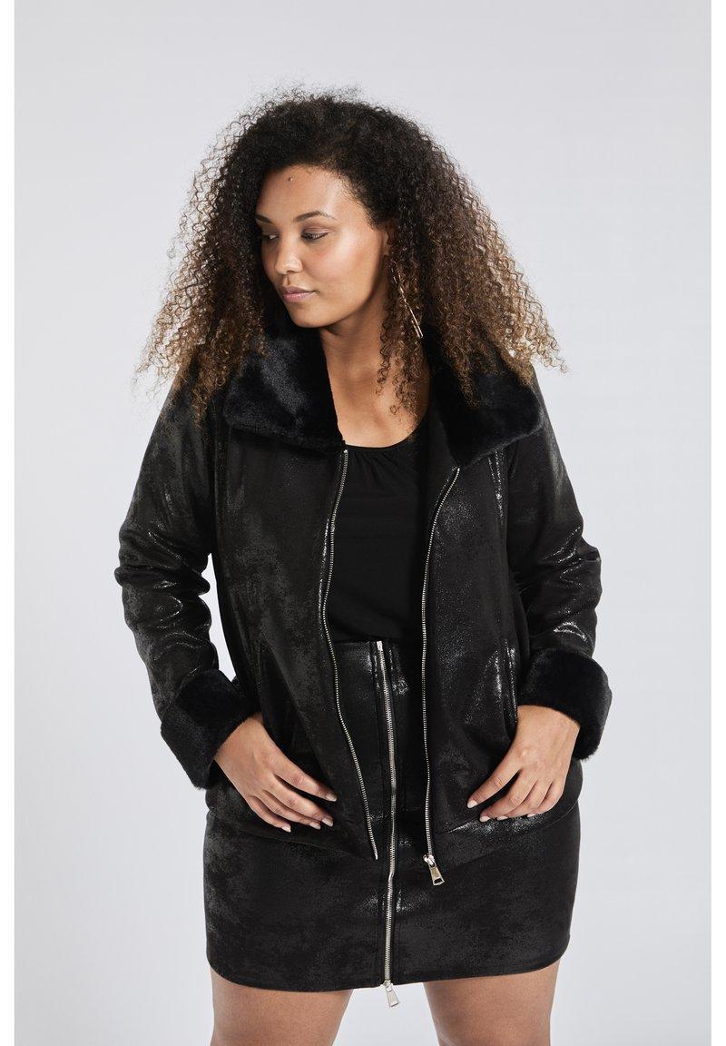 SPG Woman - Imitatieleren jas - black