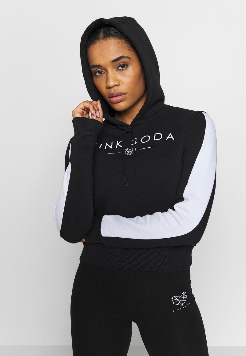 Pink Soda - YARROW HOODIE - Hoodie - black/white