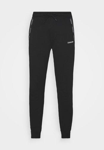 LOGO STRIPE - Pantaloni sportivi - bright white/black