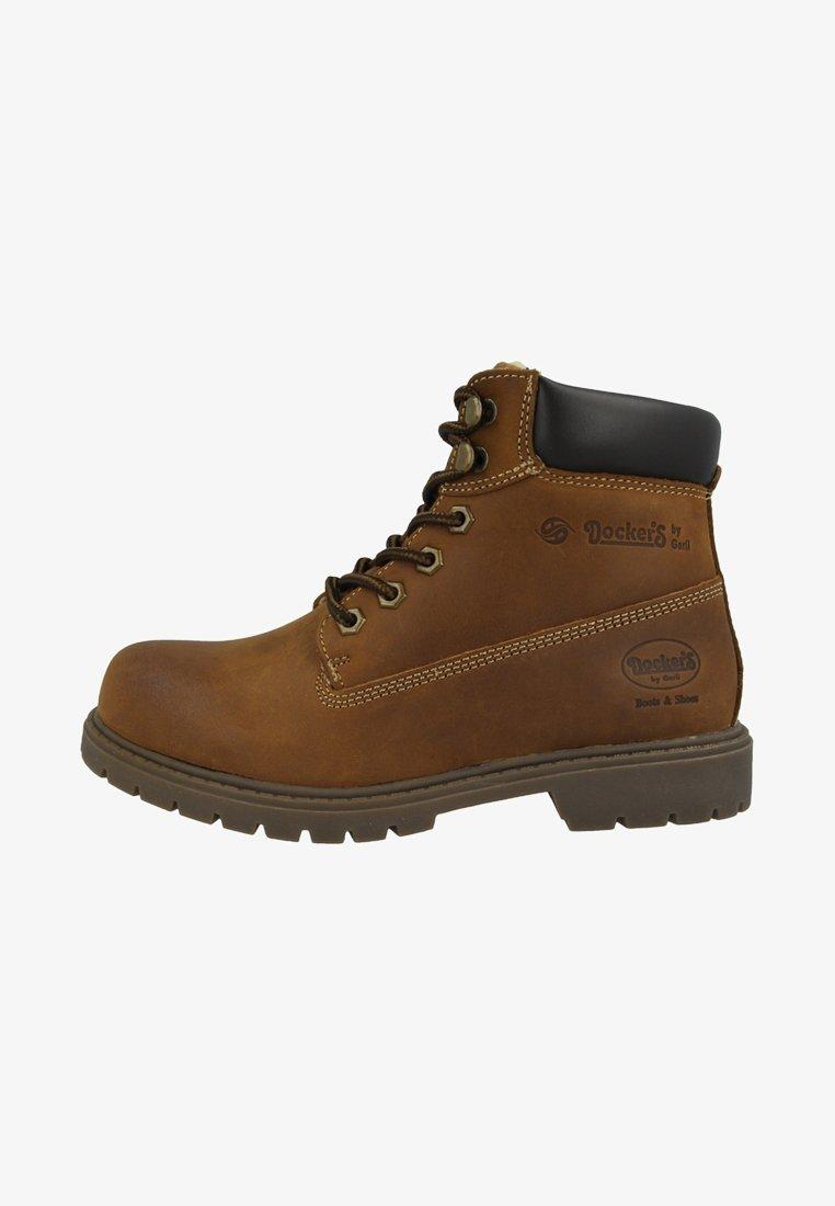 Dockers by Gerli - Šněrovací kotníkové boty - brown