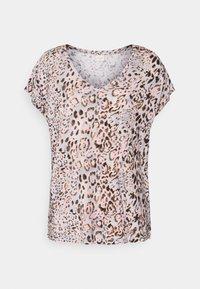 Cream - Print T-shirt - pink - 0