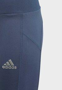 adidas Performance - AEROREADY HIGH-RISE COMFORT WORKOUT YOGA LEGGINGS - Collants - blue - 4
