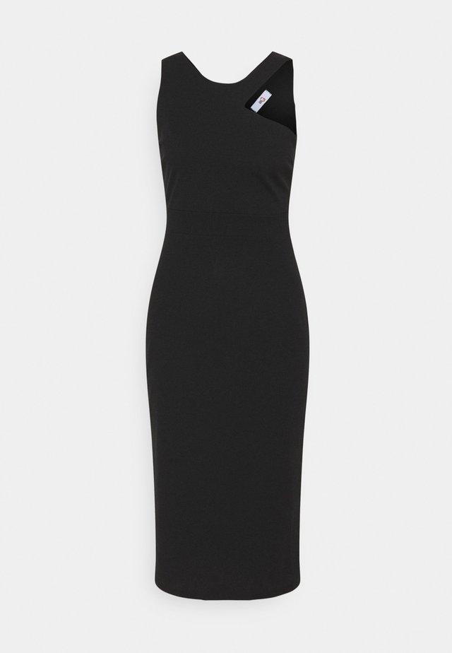 NELLI CUT OUT MIDI DRESS - Pouzdrové šaty - black
