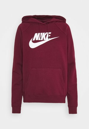 HOODIE - Sweat à capuche - dark beetroot/white