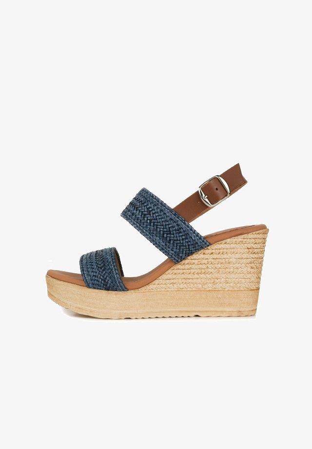 SANDALIA - Wedge sandals - marino