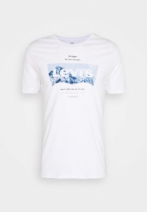 HOUSEMARK GRAPHIC TEE UNISEX - T-shirt print - white