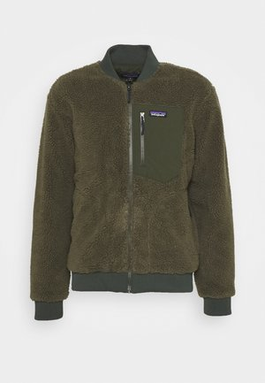 RETRO BOMBER - Veste polaire - basin green