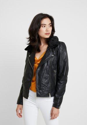 MERCURY - Leather jacket - black
