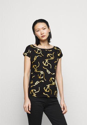 Print T-shirt - polo black