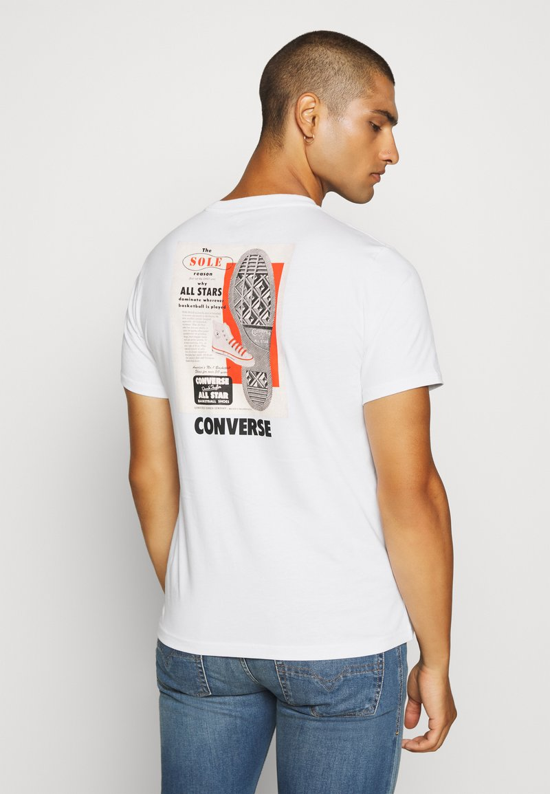 Converse - ALL STAR  ARCHIVE TEE - T-shirt con stampa - white