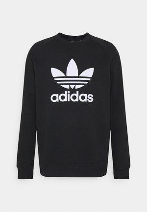 TREFOIL CREW UNISEX - Sweatshirt - black/white