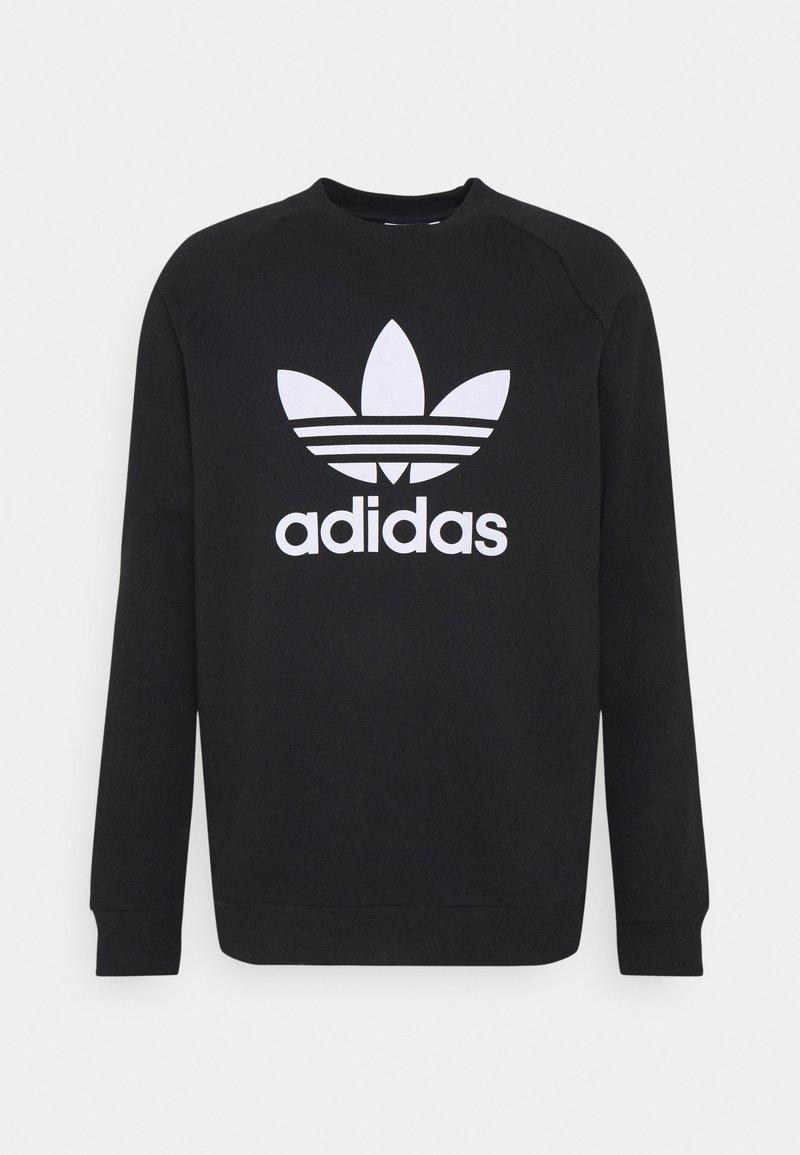 adidas Originals - TREFOIL CREW UNISEX - Bluza - black/white