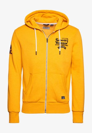 RE-WORKED CLASSICS EMBROIDERED - Zip-up hoodie - upstate gold