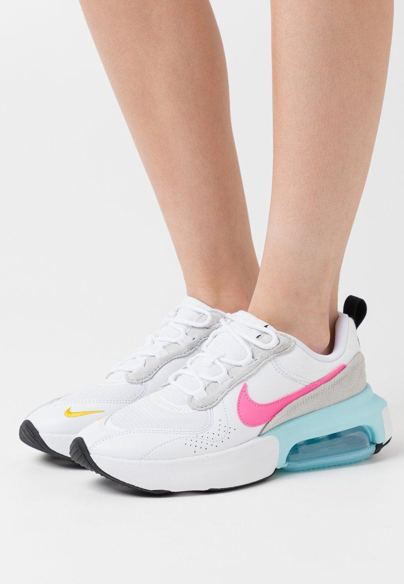 Nike Sportswear - AIR MAX VERONA - Trainers - white/pink glow/pure platinum/glacier ice/illusion green/speed yellow