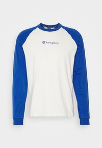 Champion - LEGACY CREWNECK LONG SLEEVE - Long sleeved top - off white/blue - 5