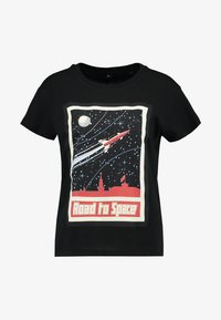 Merchcode - LADIES ROAD TO SPACE BOX TEE - T-shirt print - black - 3