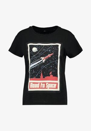 LADIES ROAD TO SPACE BOX TEE - Print T-shirt - black